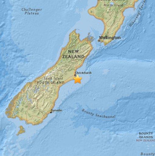 Trzęsienie ziemi w Nowej Zelandii 2016.02.14