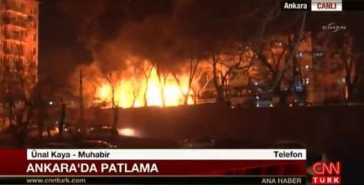 Turcja - W centrum Ankary eksplodował samochód pułapka, zginęło co najmniej 28 osób, 61 rannych -3