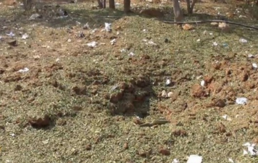 Krater po upadku meteorytu w Indiach Foto:/YT