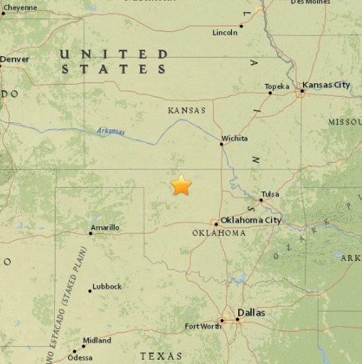 Wstrząsy w Oklahomie