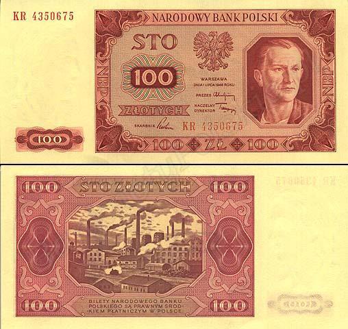 Banknot 100zł - 1948