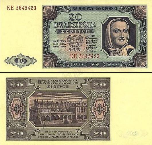 Banknot 20zl - 1948