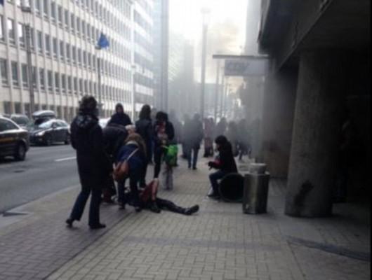 Belgia - Dwie eksplozje na lotnisku Zaventem w Brukseli -10