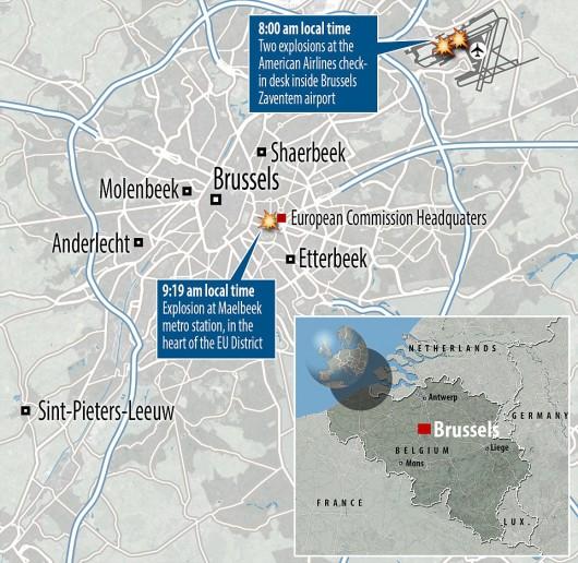 Belgia - Dwie eksplozje na lotnisku Zaventem w Brukseli -13