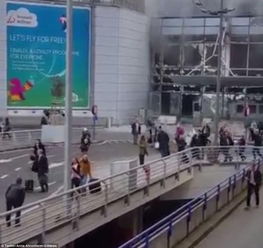 Belgia - Dwie eksplozje na lotnisku Zaventem w Brukseli -14