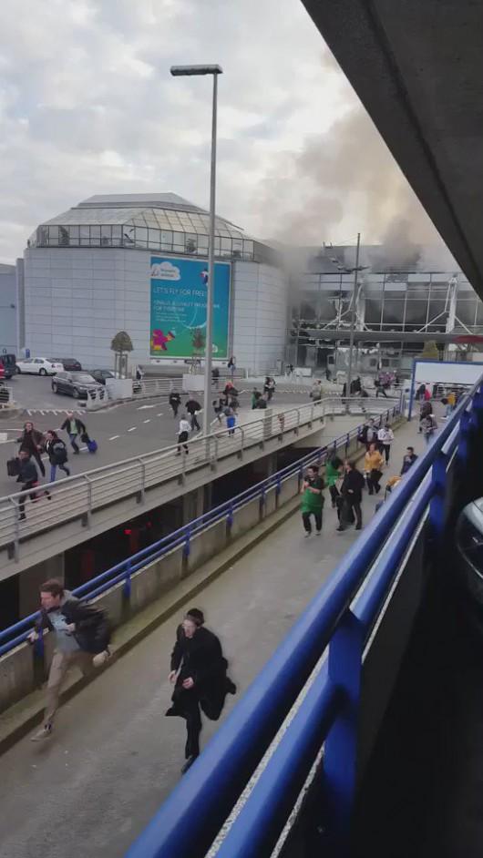 Belgia - Dwie eksplozje na lotnisku Zaventem w Brukseli -2