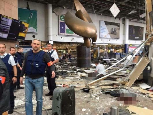 Belgia - Dwie eksplozje na lotnisku Zaventem w Brukseli -3