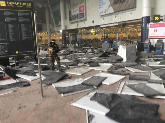 Belgia - Dwie eksplozje na lotnisku Zaventem w Brukseli -4