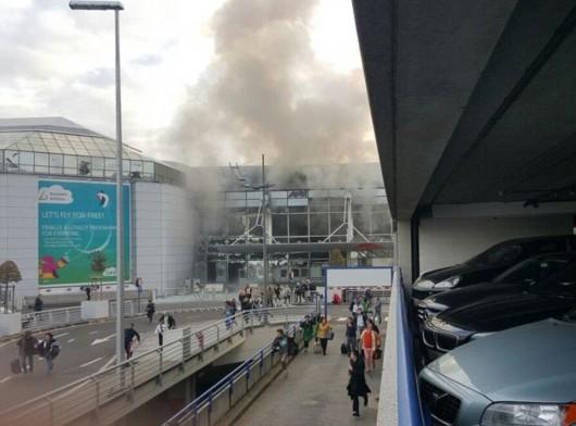 Belgia - Dwie eksplozje na lotnisku Zaventem w Brukseli -5