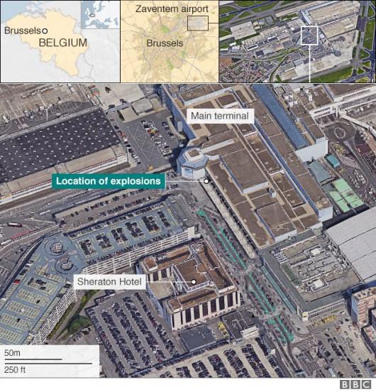 Belgia - Dwie eksplozje na lotnisku Zaventem w Brukseli