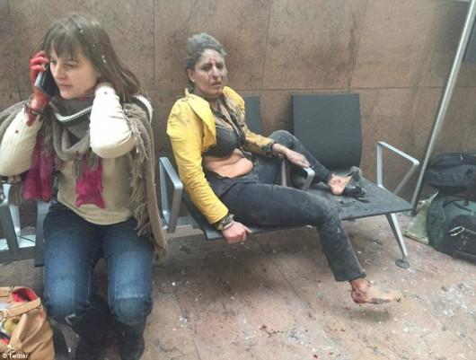 Belgia - Dwie eksplozje na lotnisku Zaventem w Brukseli -6