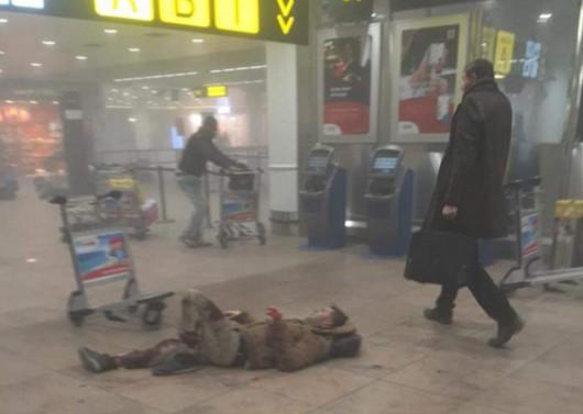 Belgia - Dwie eksplozje na lotnisku Zaventem w Brukseli -7