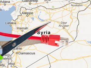 Brak internetu - Syria