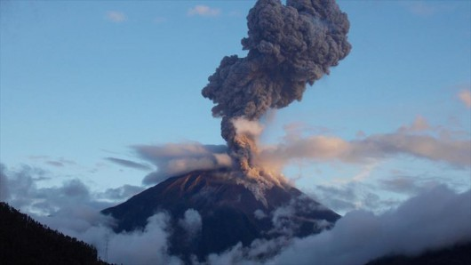 Ekwador - Erupcja wulkanu Tungurahua
