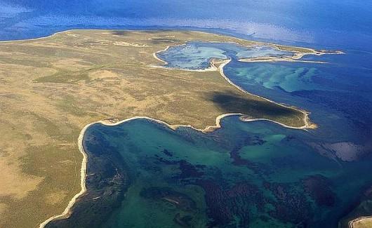 Falklandy z lotu ptaka