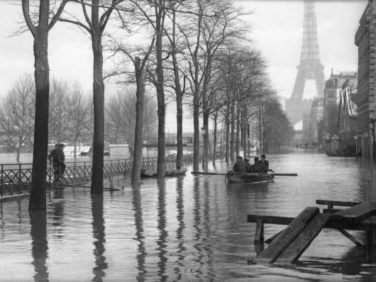 Crue de la Seine. Quai de Grenelle. Paris, janvier 1910.