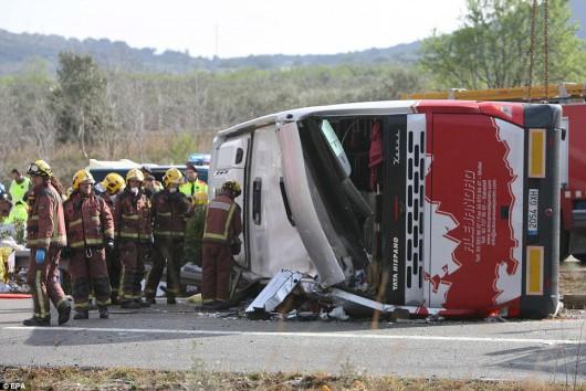 Hiszpania - W wypadku autokaru zginęło 14 studentów -2