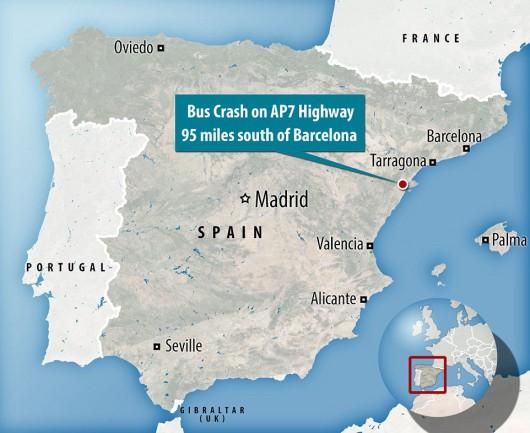 Hiszpania - W wypadku autokaru zginęło 14 studentów