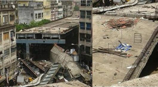 Kalkuta, Indie - Runął wiadukt -3