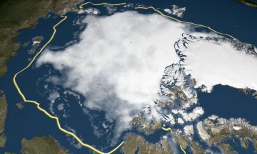Lód w Arktyce