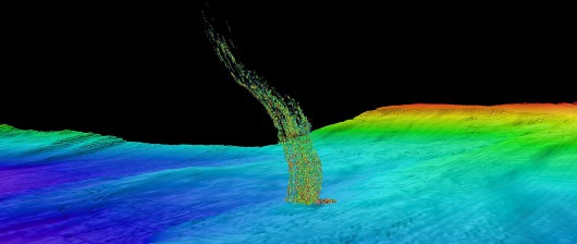 Na dnie Morza Barentsa odkryto ogromne kratery z których uwalniają się bąble metanu