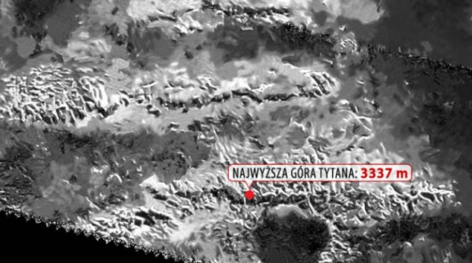 Najwyższa góra na Tytanie mierzy 3 337 m.