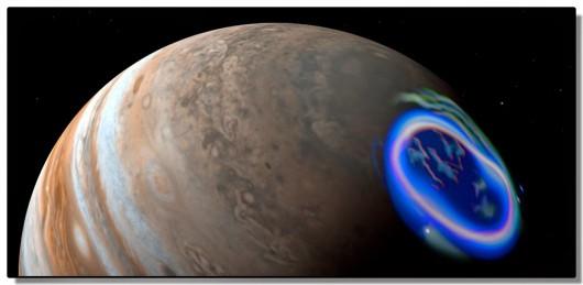 Niewidoczna gołym okiem zorza polarna - Jowisz -1