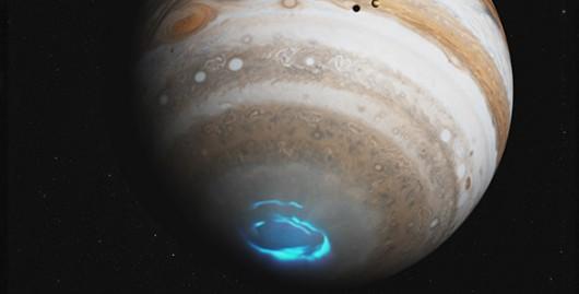 Niewidoczna gołym okiem zorza polarna - Jowisz -3