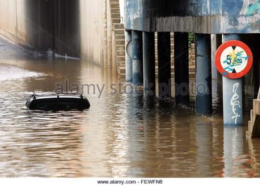 Powódź na północy Hiszpanii -1
