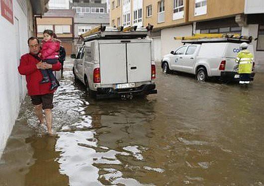 Powódź na północy Hiszpanii -4