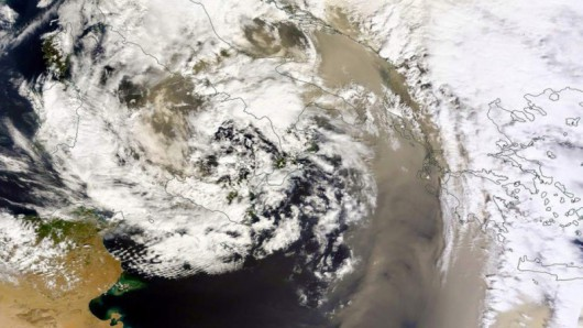 Pył znad Sahary nad Adriatykiem i Morzem Jońskim