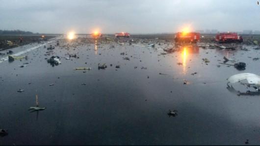 Rosja - W Rostowie nad Donem rozbił się samolot pasażerski z 62 osobami na pokładzie -2