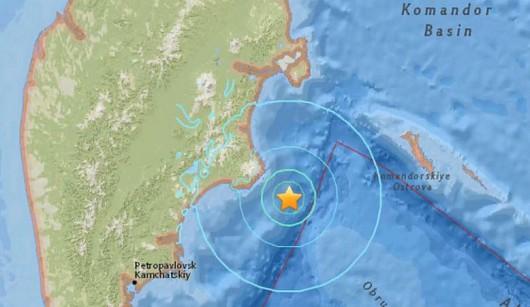 Trzęsienie ziemi na Kamczatce o magnitudzie 6,6