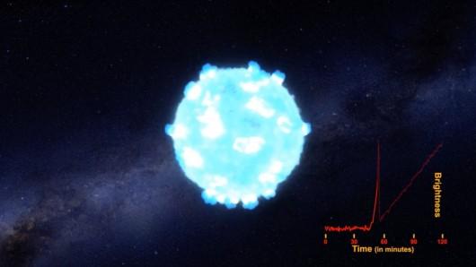 Zarejestrowano falę uderzeniową podczas wybuchu ogromnej gwiazdy