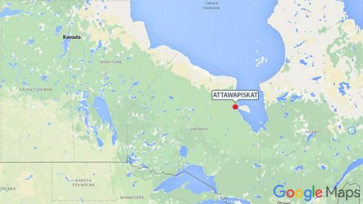Attawapiskat położone jest w niedostępnym regionie na północy stanu Ontario