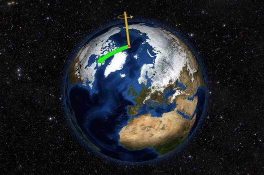 Biegun północny wędruje w kierunku Wielkiej Brytanii