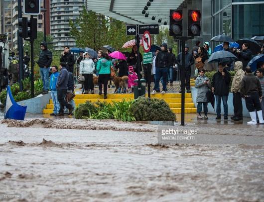 Chile - Powódź z powodu ulewnych opadów deszczu -1