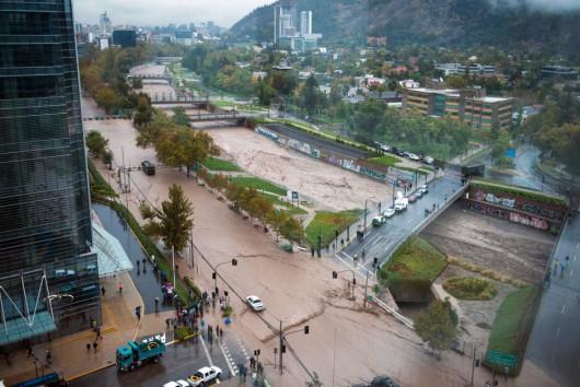 Chile - Powódź z powodu ulewnych opadów deszczu -2
