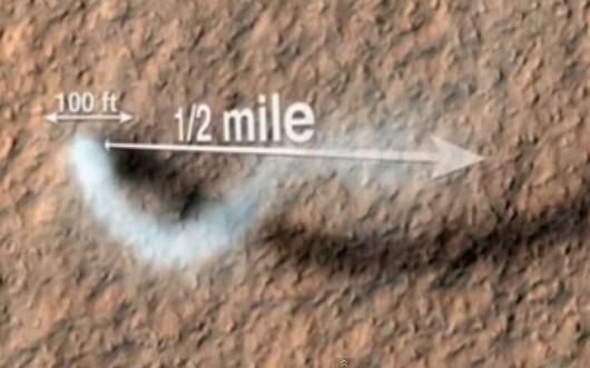 Diabeł pyłowy na Marsie