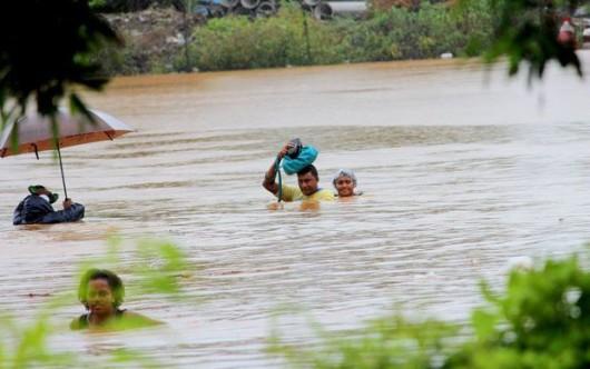 Fidżi - Powódź z powodu ogromnych opadów deszczu -2