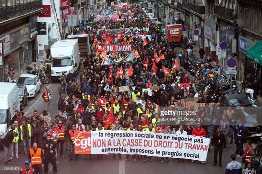 Francja - Ogromne protesty przeciwko reformie prawa pracy -2