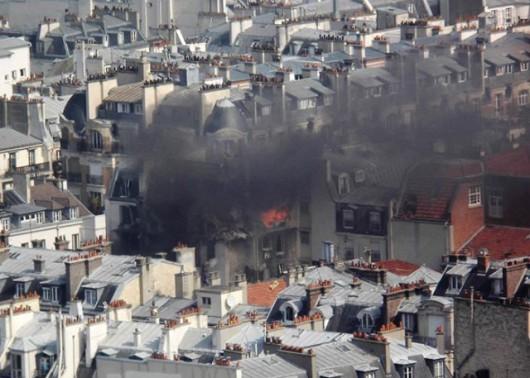 Francja - Potężna eksplozja w Paryżu zniszczyła część budynku -1