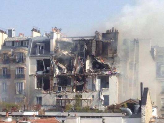 Francja - Potężna eksplozja w Paryżu zniszczyła część budynku -3