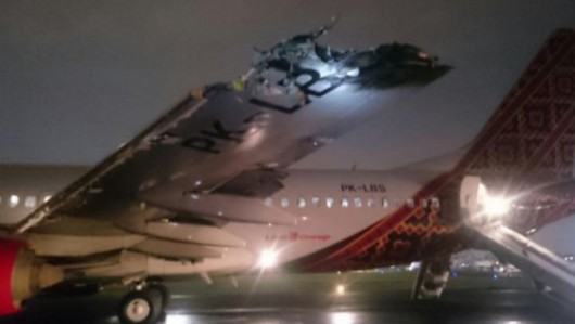 Indonezja - Kolizja dwóch samolotów na lotnisku w Dżakarcie