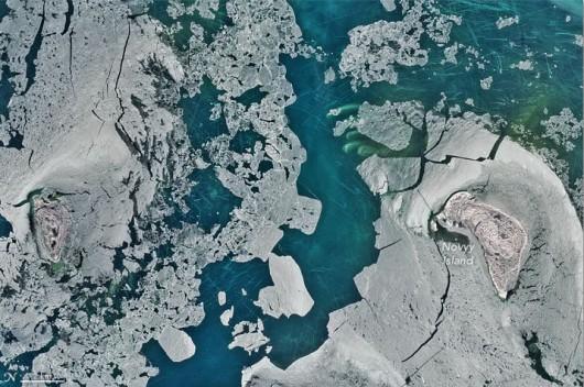 Lód na Morzu Kaspijskim 17.01.2016