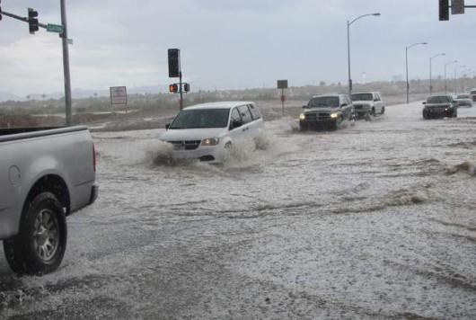 Las Vegas, USA - Intensywne opady deszczu w Nevadzie i Kalifornii -3