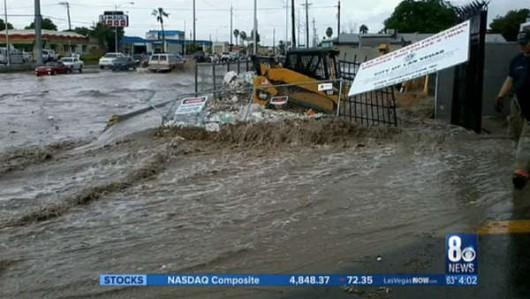 Las Vegas, USA - Intensywne opady deszczu w Nevadzie i Kalifornii -6