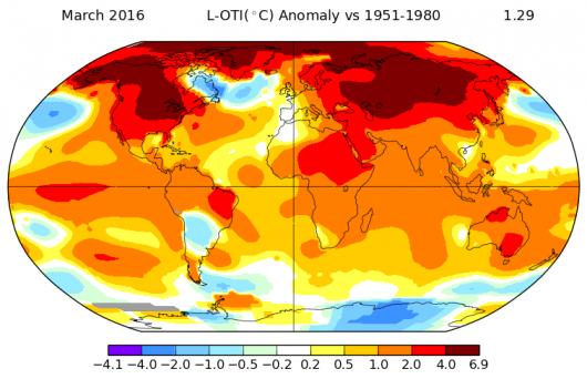 Najcieplejszy marzec 2016 roku