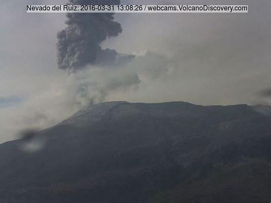 Nevado del Ruiz zdjęcia z kamer