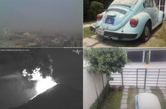Po wybuchu wulkanu Popocatepetl 1
